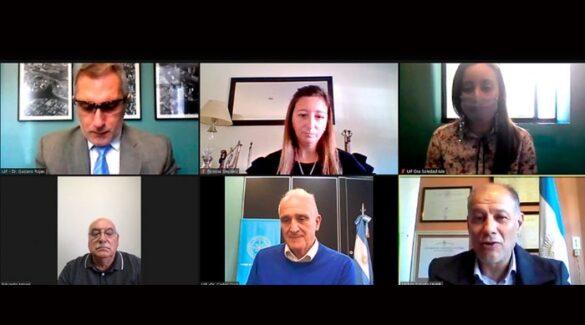 Reunión virtual - convenio - UIF