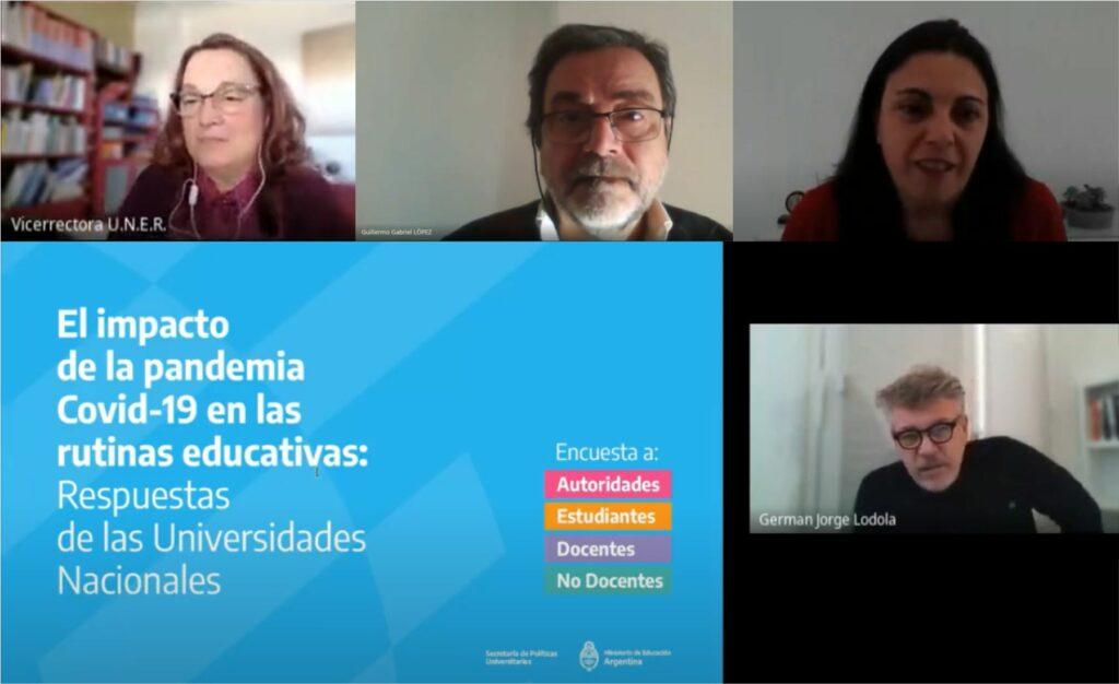 Acciones de la UNER en la pandemia - presentación de meet 2