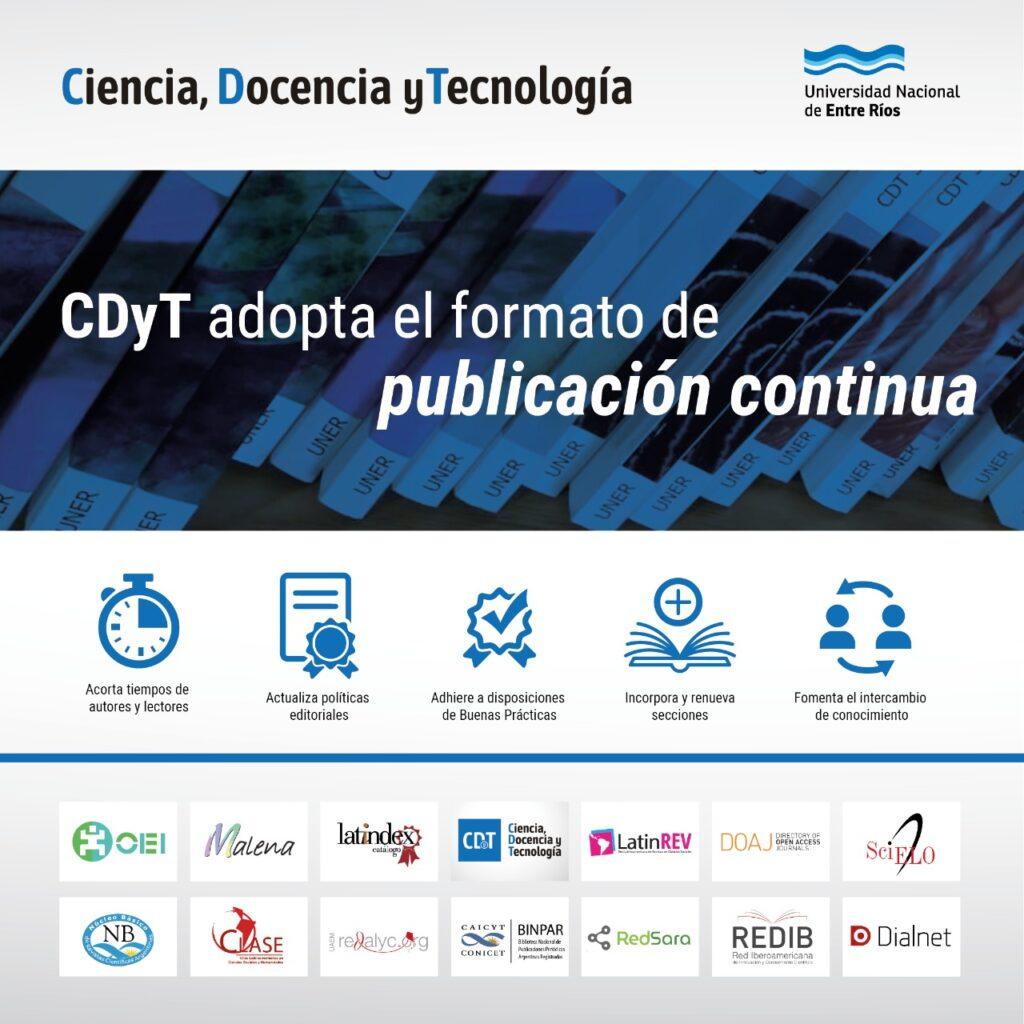 Flyer explicando los beneficios que trae el adoptar el formato de publicación continua.
