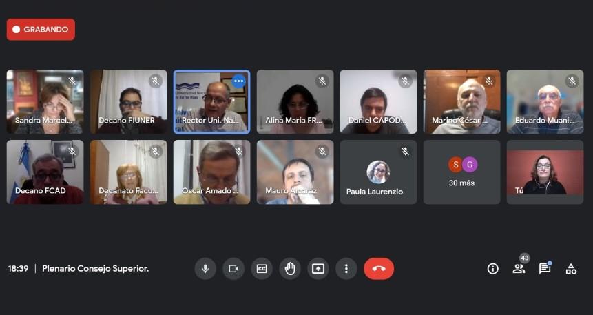 El Consejo Superior realizó su reunión plenaria