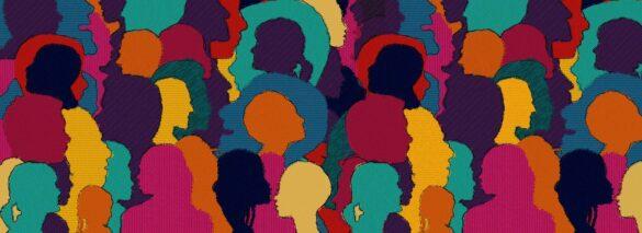 Siluetas de colores representando diversidad