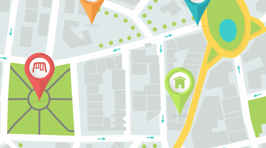 Mapa satelital genérico vectorizado