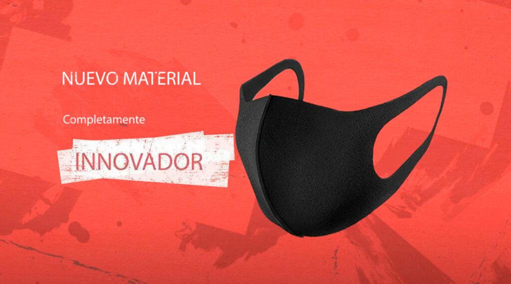 Captura del video presentado por los ganadores del certamen, presentando el prototipo de mascarilla anticovid.